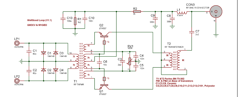 Wellgood balanced loop amplifier, (Wellbrook clone)  — Forum