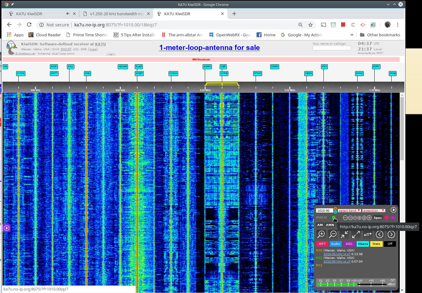 v1 250: 20 kHz bandwidth mode, 10/100 Ethernet speed